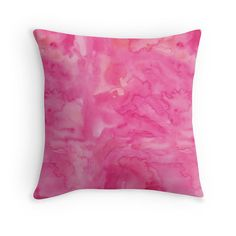 Hot pink fuchsia watercolour wash cushion cover. Available as Cover ONLY or Cover & Pillow. Please choose on the right column for the size and cover and/or pillow option. ♥ Details Throw Pillow Cover is made from 100% spun polyester poplin fabric, a stylish statement that will liven up any room. Individually cut and sewn by hand, the pillow cover features a double-sided print and is finished with a concealed zipper for ease of care. ♥ More Cushion Designs…
