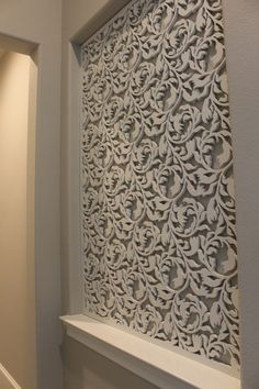 Laser cut wood panel / accent wall