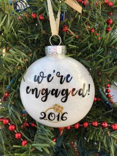 Engagement Ornament Engaged Ornament Personalized by BallyandLis