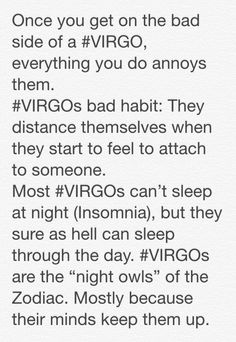 My favorite top 3 #virgo facts. Way too true