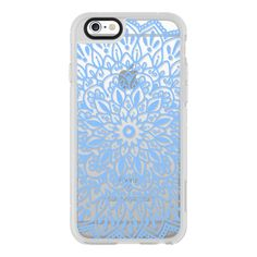 Blue Lace Mandala - iPhone 6s Case,iPhone 6 Case,iPhone 6s Plus... (1.135 UYU) ❤ liked on Polyvore featuring accessories, tech accessories, phone, iphone cases, phone cases, cases, iphone hard case, blue iphone case, clear iphone case and apple iphone case