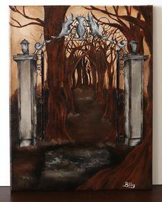 Acrylic painting on canvas  30x40cm    ©Billy Acrylic Painting Canvas, Gate, Portal