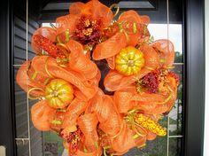 bright October wreath..mmmm orange