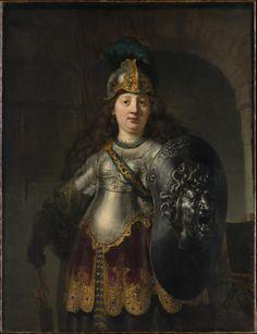 Bellona. Rembrandt (Rembrandt van Rijn) (el holandés, Amsterdam Leiden 1606 – 1669)  1633