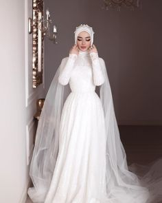 Muslimah Wedding Dress, Hijab Style Dress, Muslim Wedding Dresses, Hijab Bride, Muslim Brides, Wedding Hijab, Wedding Dress Sleeves, Dream Wedding Dresses, Wedding Gowns