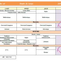 Emploi du temps CE1 Jobs In, Elementary Schools, Classroom, Billboard