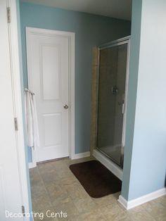 Behr Harmonious spa blue bathroom paint color | Involving Color Paint Color Blog