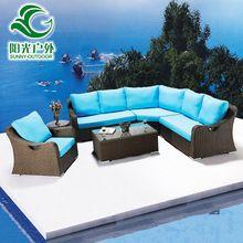 Alta calidad sofá de mimbre jardín conjunto silla alta y alta mesa de muebles de…