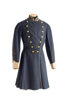 Uniform Coat worn by Jospeh E. Adger (Charleston, SC), quartermaster and acting ordnance officer for the 25th South Carolina Volunteers, also known as the Eutaw Regiment. Charleston Museum.