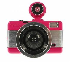 """The Pink Fisheye has the ability to fire both a hot shoe flash and the built-in flash, as well as sporting a true fisheye viewfinder, and the """"full metal jacket"""" body treatment. With this arsenal, the possibilities for your Fisheye lomography are endless!"""