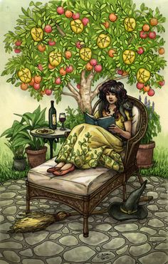 Everyday Witch Tarot - Nine of Pentacles