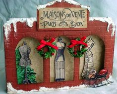 Shadow box Christmas card by designing diva - Cards and Paper Crafts at Splitcoaststampers