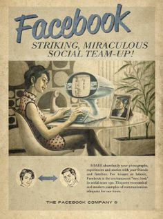 Facebook in de jaren '50 via @dutchcowboys