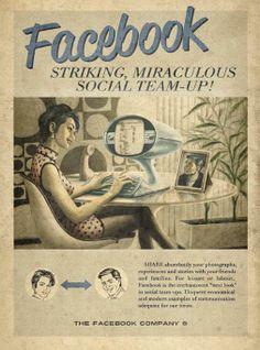 Facebook in de jaren '50 via @dutchcowboys