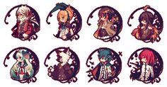 LiEat characters, efina, Leo, Nile, Brett, Rachel