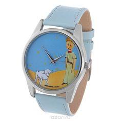 Часы наручные женские Mitya Veselkov Принц и барашек, цвет: серебряный, голубой, желтый. Color-37