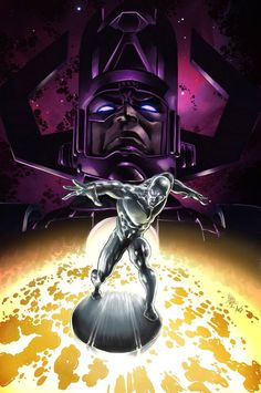 Galactus and Silver Surfer by Mike Deodato Jr   Colors by Árison Aguiar