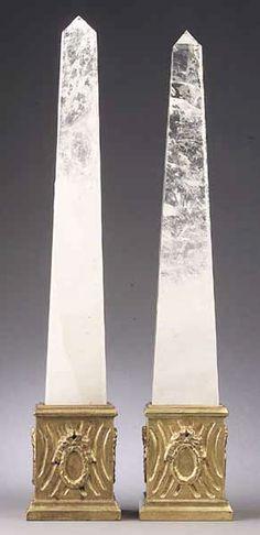 Rock Crystal Obelisks