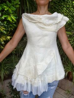 Julia Rossi: Fieltro:Producción de blusas: Inspiración con aires africanos !!!