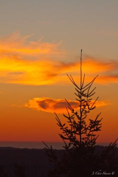 Sunset over the Mendocino County Coast on the Pacific Ocean in Northern California