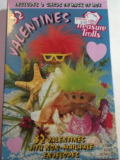 Vintage 1990's Treasure Trolls Valentines day by aPEACEofCLOTHING
