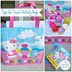 Tips for Activity Bag for Traveling with Kids from the Educators' Spin On It