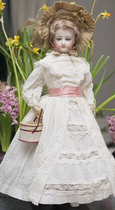 "20"" (51 cm)French Fashion Doll by Francois Gaultier, spiral threaded eyes, c.1875"