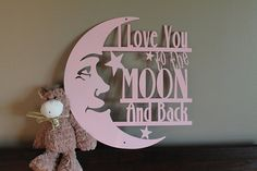 Jenkins Fabrication: Steel signs, metal wall art by JenkinsFabrication Crackle Painting, Baby Shower Invites For Girl, Color Names, Metal Signs, Metal Walls, First Birthdays, I Love You, Kids Room, Moon