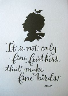 Tag Team Tompkins Print - It is not only fine feathers that make fine birds. -Aesop