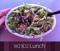 July 11th 2013 - W23D2 Lunch - Chipotle burrito bowl. No rice or cheese. Chicken, black beans, guacamole, salsa, lettuce.
