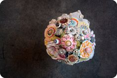 cristina's bridal bouquet by princesslasertron, via Flickr