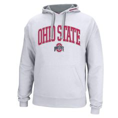 Ohio State Buckeyes Arch & Logo Contrast Liner Meteor Hoodie - White