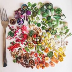 Colorful Miniature Clay Food Sculptures That Look Good Enough To Eat - DesignTAXI.com