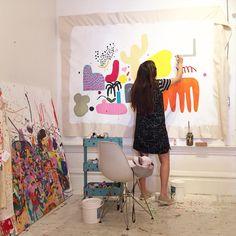 Kindah Khalidy's studio