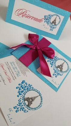 Invitaciones quince años / sweet sixteen invitations #paris Turquesa + fucsia #ideascreatif #angelicaderincon