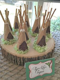 Tiger Lily's Teepees at a Peter Pan Birthday Party!  See more party planning ideas at CatchMyParty.com!