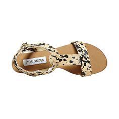 HABBITAT BLACK TAN women's sandal flat ankle strap - Steve Madden