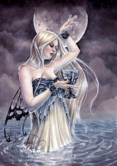 selina fenech water-of-life fairy art ~ ♥ #faeries #fairies #art #fantasy