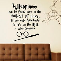 Hey, I found this really awesome Etsy listing at https://www.etsy.com/listing/225983855/harry-potter-wall-decal-quote-happiness