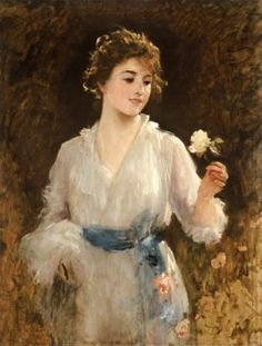 The yellow rose, Sir Luke Fildes. English (1843-1927)