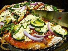 crispy chewy gluten-free vegan pizza