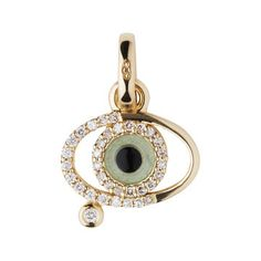 Women Charms All, Evil Eye Charm 18ct Yellow Gold and Diamonds Charm, Official Links of London, Official Links of London, Official Links of ...