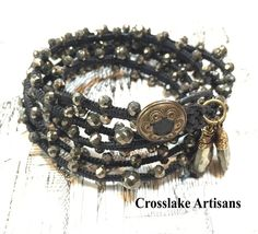 A personal favorite from my Etsy shop https://www.etsy.com/listing/522836729/five-wrap-pyrite-bracelet-with-pyrite