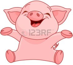 Illustration of very cute piggy  photo