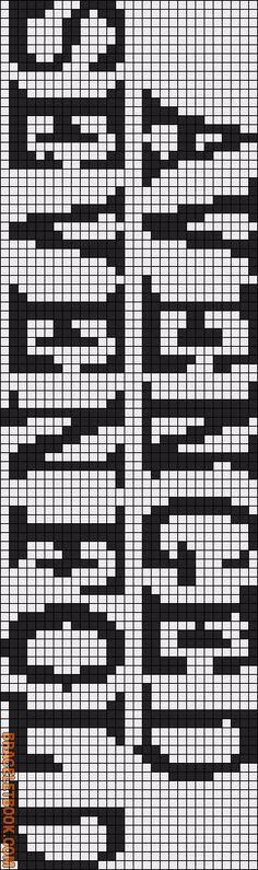 Alpha friendship bracelet pattern added by NiGhTMaRE. Friendship Bracelet Patterns, Friendship Bracelets, Crochet Chart, Crochet Patterns, Origami, Seed Bead Crafts, Alphabet Charts, Embroidery Alphabet, Hobby House