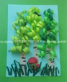 Summer craft  Березки Детские поделки Art Activities For Kids, Kindergarten Activities, Preschool, Paper Crafts For Kids, Diy Paper, Spring Flowers, Kids And Parenting, Decoration, Paper Flowers