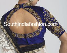 velvet zardosi work blouse You are in the right place about Blouse patterns Here we offer you the most beautiful pictures about the golden Blouse you are looking for. When you examine the velvet zardo South Indian Blouse Designs, Fancy Blouse Designs, Bridal Blouse Designs, Zardosi Work Blouse, Sari Blouse, Choli Blouse Design, India Fashion, Blouse Patterns, Clothes For Women
