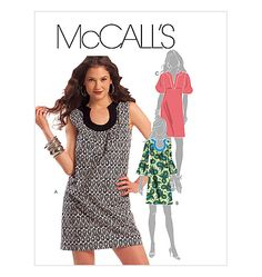 Frogs in a Bucket: MCCall's 5621 A Shift Dress