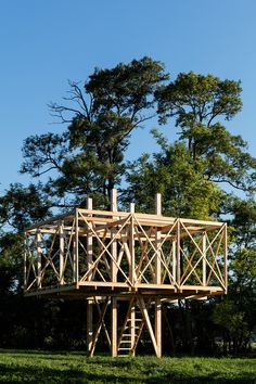 Image 5 of 20 from gallery of Architects Construct Village of 14 Wooden Structur. - Image 5 of 20 from gallery of Architects Construct Village of 14 Wooden Structures at Hello Wood 20 - Wooden Architecture, Pavilion Architecture, Sustainable Architecture, Landscape Architecture, Interior Architecture, Residential Architecture, Contemporary Architecture, Bamboo Structure, Timber Structure