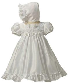 Baby-Girls KID Collection Satin & Pearl Dress « Clothing Impulse. Love this for our little lady's baptism.